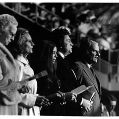 Billy Graham with Johnny and June Cash