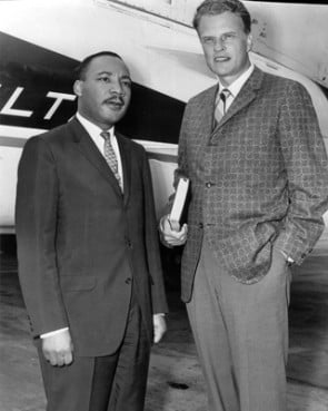 The Rev. Martin Luther King Jr. and evangelist Billy Graham