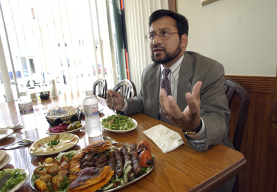 (RNS1-FEB14) Sohail Mohammed of Clifton, N.J., helped shape New Jersey's halal food law, and is now trying for the third time to become a Superior Court judge. For use with RNS-MUSLIM-JUDGE, transmitted Feb. 14, 2011. RNS photo by M. Kathleen Kelly/The Star-Ledger.