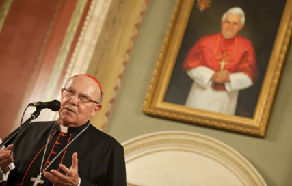 Cardinal William Levada, former archbishop of San Francisco and now prefect of the Congregation for the Doctrine of the Faith, said bishops have an obligation to ``cooperate'' with local law enforcement, but stopped short of mandating that bishops report abuse cases to police.