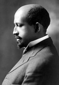 W.E.B. du Bois, co-founder of the NAACP. Du Bois described himself as a freethinker and was sometimes critical of the black church.