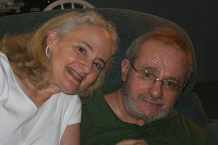 Terri Corcoran, a spokeswoman for the Well Spouse Association, said her faith has helped her accept her husband Vince's neurodegenerative disorder that leaves him mostly speechless.