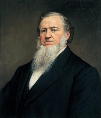 LDS Church President Brigham Young encouraged Mormons to vote for Democrats, in part because the Republicans were vehemently anti-polygamy.