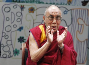 The Dalai Lama speaks in 2011 at the Newark Peace Education Summit in Newark, N.J., where Nobel laureates compared different visions of nonviolence and reconciliation. Photo by Robert Sciarrino/The Star-Ledger.
