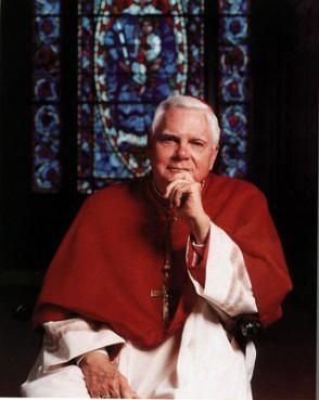 Disgraced former Boston Cardinal Bernard Law.
