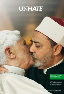 The Vatican announced on Tuesday (May 15) it had settled a lawsuit against Italian clothing group Benetton for using an image of Pope Benedict XVI in one of its advertisement campaigns.  The ad featured Pope Benedict XVI kissing Egyptian cleric Sheikh Ahmed Mohamed El-Tayeb.