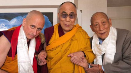 From left, Nicholas Vreeland, the Dalai Lama and Khyongla Rato Rinpoche. On July 6, Vreeland will be enthroned as the new abbot of Rato Monastery in southern India, one of the most important monasteries in Tibetan Buddhism. He will be the first Westerner to hold such a position.