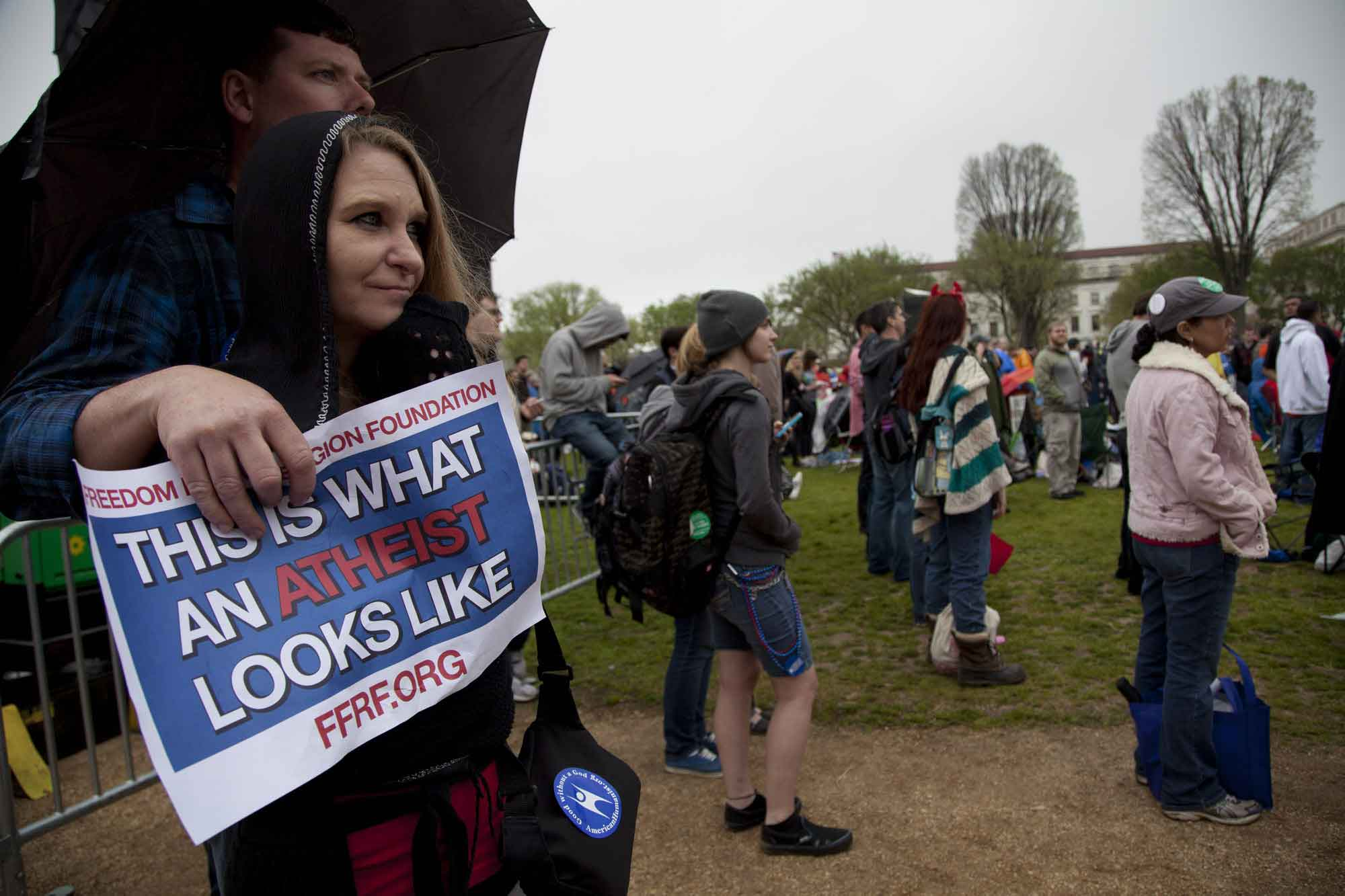 Thousands of atheists and unbelievers gather on the National Mall for the 2013 Reason Rally.  RNS photo by Tyrone Turner