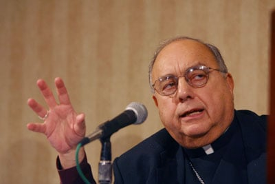 Bishop Joseph Galante helped shape the reformation of sexual abuse policy 10 years ago. (2002 photo)