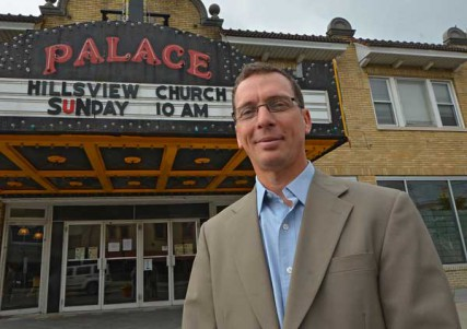 Rev. Henry Clarke at the Palace Theater in Eastwood, NY, where he has the Hillsview Church.