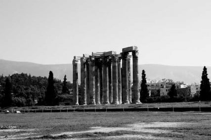 Zeus' Olympic Stadium in Athens, Greece.