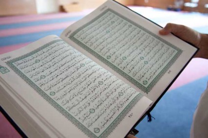 A Quran photographed in a Kansas City mosque in 2012. Religion News Service photo by Sally Morrow