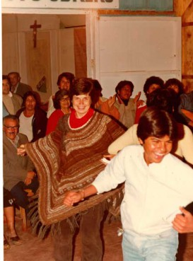 Sister Pat Farrell in the parish of Cristo Obrero in Arica, Chile about 1984.