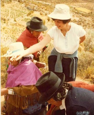 Sister Pat Farrell with Aymara Indians in the north of Chile about 1982.