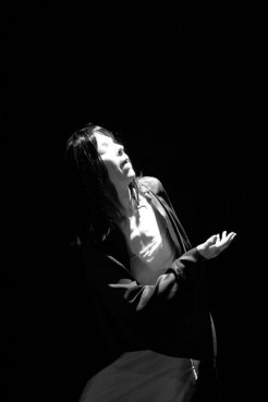 Khadija Anderson, a Muslim convert in Los Angeles, performs a Butoh dance in 2008.