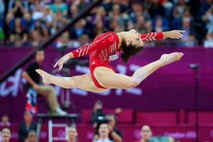 Aly Raisman of Needham, Mass., won a gold medal on Tuesday (July 31) in the women's all-around gymnastics competition.