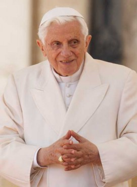 Pope Benedict XVI leaves Christmas Eve Mass in St. Peter's Basilica at the Vatican Dec. 24.