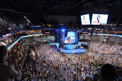 Michelle Obama speaks during the Democratic National Convention in Charlotte, N.C. on Tuesday night (Sept. 4, 2012).