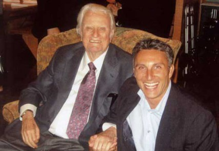 Tullian Tchividjian is the author of 'Glorious Ruin: How Suffering Sets You Free', that released last month. He is also the senior pastor of Coral Ridge Presbyterian Church in Fort Lauderdale, FL and the grandson of Billy Graham.  Tchividjian is pictured here with Billy Graham.