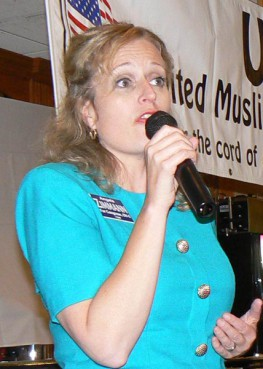 The Rev. Angela Zimmann is an ordained Lutheran minister and is believed to be the only female minister running for Congress this year.  *Note: This image is not available to download.