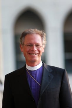 Episcopal Bishop Marc Andrus said he was denied entrance to the installation Mass of the new Roman Catholic archbishop.