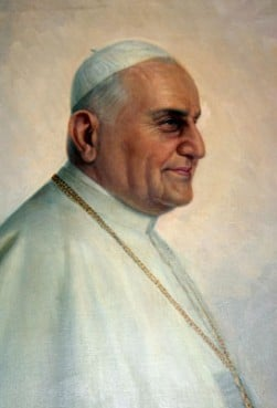 Pope John XXIII.  From a painting in the Casa Santa Maria dell?Umilta of the Pontifical North  American College, Rome.