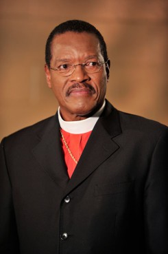 The Church of God in Christ has re-elected Presiding Bishop Charles Blake to serve a second four-year term as head of the nation's largest Pentecostal denomination.