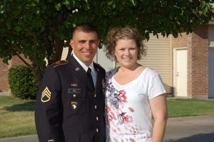 Staff Sgt. Brandon Hill with his wife Jessica.