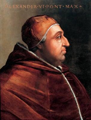 "(RNS1-MAR31) Pope Alexander VI (1431-1503) was one of history's most infamous pontiffs, and serves as the inspiration of the new Showtime series, ""The Borgias."" RNS photo."