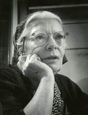 Dorothy Day founded the Catholic Worker Movement in 1933 and became what many consider to be an American saint. She is seen here in 1968.