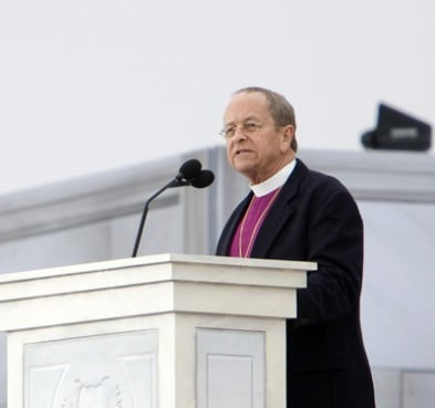 Episcopal Bishop V. Gene Robinson gave the invocation on Sunday, Jan. 18, 2009, to begin the Welcoming Ceremony for Barack Obama's presidential inauguration.