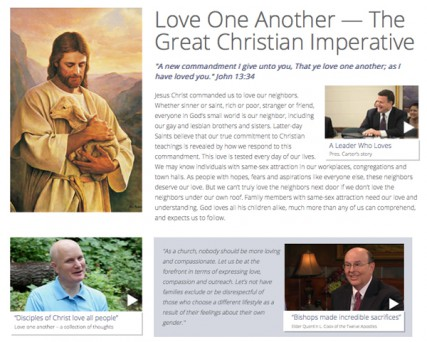 The Mormon church is not changing its tune about homosexuality, but it has launched a new website to alter the tone.
