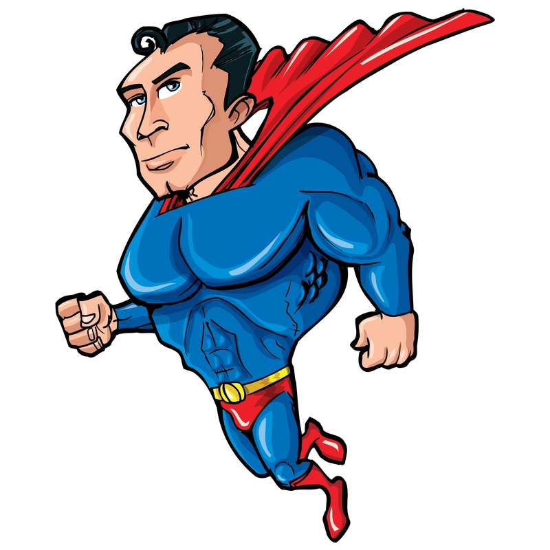 An illustration of Superman