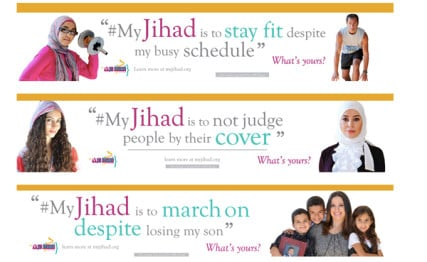 "An ad campaign on San Francisco buses is aimed at trying to change public perception of the word ""jihad,"" which the program's founder says has been distorted by extremists — Muslim and anti-Muslim alike.  RNS photo courtesy www.myjihad.org."