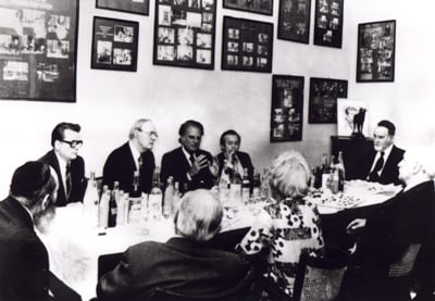 Billy Graham meets with Jewish leaders in Budapest, Hungary, on Sept. 4, 1977.