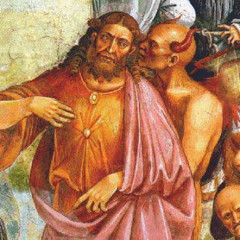Antichrist with the devil, from the Deeds of the Antichrist circa 1501.  RNS photo courtesy Wikimedia Commons/Public Domain (http://en.wikipedia.org/wiki/File:Signorelli-Antichrist_and_the_devil.jpg).