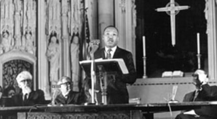 Martin Luther King, Jr. preaching at Riverside