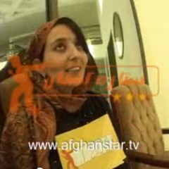 """Lima Sahar is the Afghani young woman forced to flee to Pakistan after her """"Afghan Star"""" appearance.  RNS photo courtesy YouTube (http://www.youtube.com/watch?v=9_w2XWmAmvY)"""