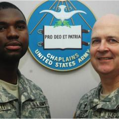 SFC John Bennett (left) and Chaplain Jeff Zust.  RNS photo courtesy Jeff Zust.