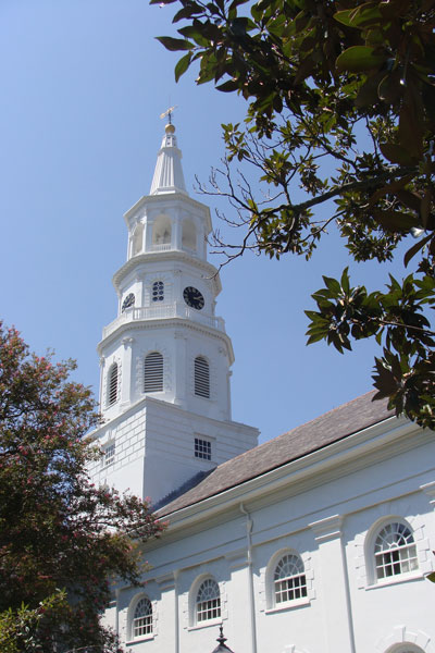St. Michael's, a church within the Diocese of South Carolina, is one of the most prominent Episcopal churches in Charleston, S.C. RNS photo by Kevin Eckstrom