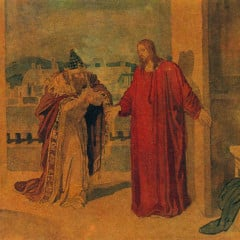 Nicodemus and Jesus by Alexander Andreyevich Ivanov circa 1850.  Photo courtesy Wikimedia Commons (http://bit.ly/ZqpaUz)