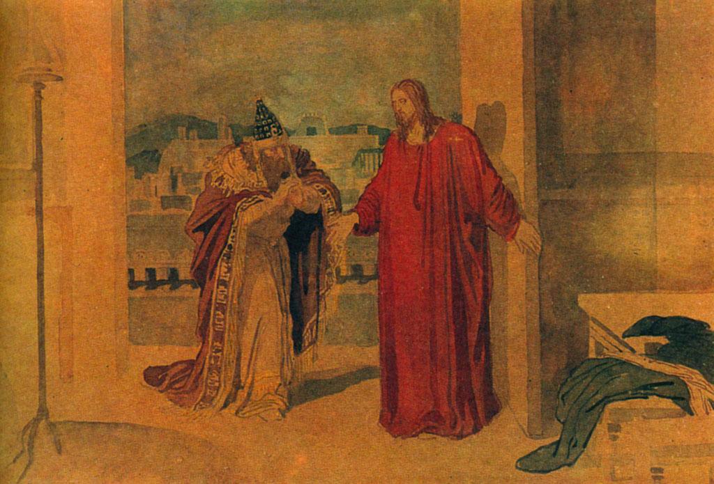 Nicodemus_and_Jesus by Alexander Andreyevich Ivanov circa 1850
