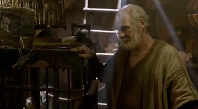 """A scene from episode one of the """"The Bible"""" miniseries depicts Noah telling the creation narrative as recorded in Genesis. But the passage wasn't penned until centuries later."""