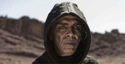 "Satan in the miniseries ""The Bible."" Photo courtesy of Glenn Beck/Twitter"