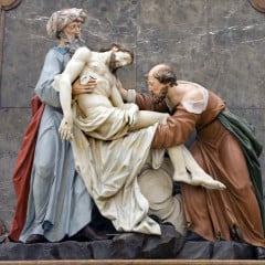 Deposition from the Cross from Vienna church - Nicodemus and Joseph of Arimatea.  Photo courtesy Shutterstock (http://shutr.bz/15W6boY)