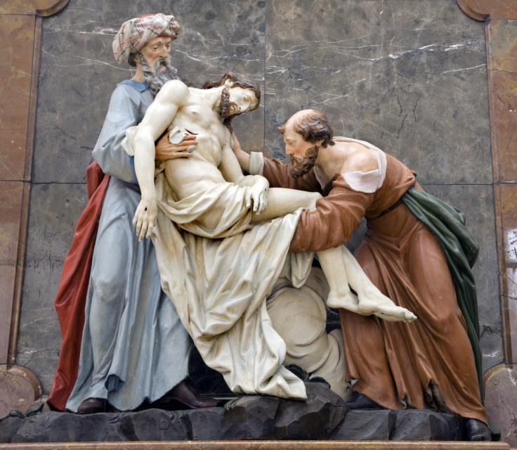 Deposition from the Cross from Vienna church - Nicodemus and Joseph of Arimatea.  Photo courtesy Shutterstock (http://shutr.bz/15W6boY)