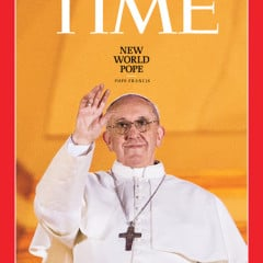 Time magazine cover of Pope Francis (March 2013).  Photo courtesy Time.