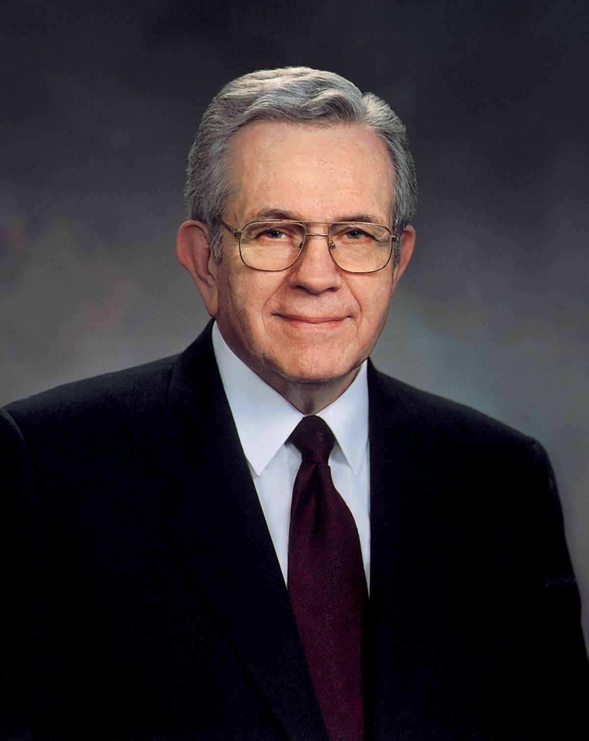 Boyd Packer is the leader of the Quorum of Twelve Apostles for the Church of Jesus Christ of Latter-day Saints. RNS photo courtesy LDS Church.