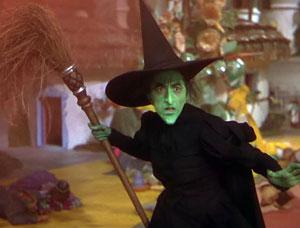 """Margaret Hamilton in """"The Wizard of Oz,"""" via Wikipedia."""