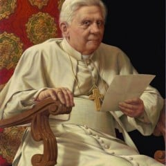 Portrait of Pope Benedict XVI, via Vatican Radio